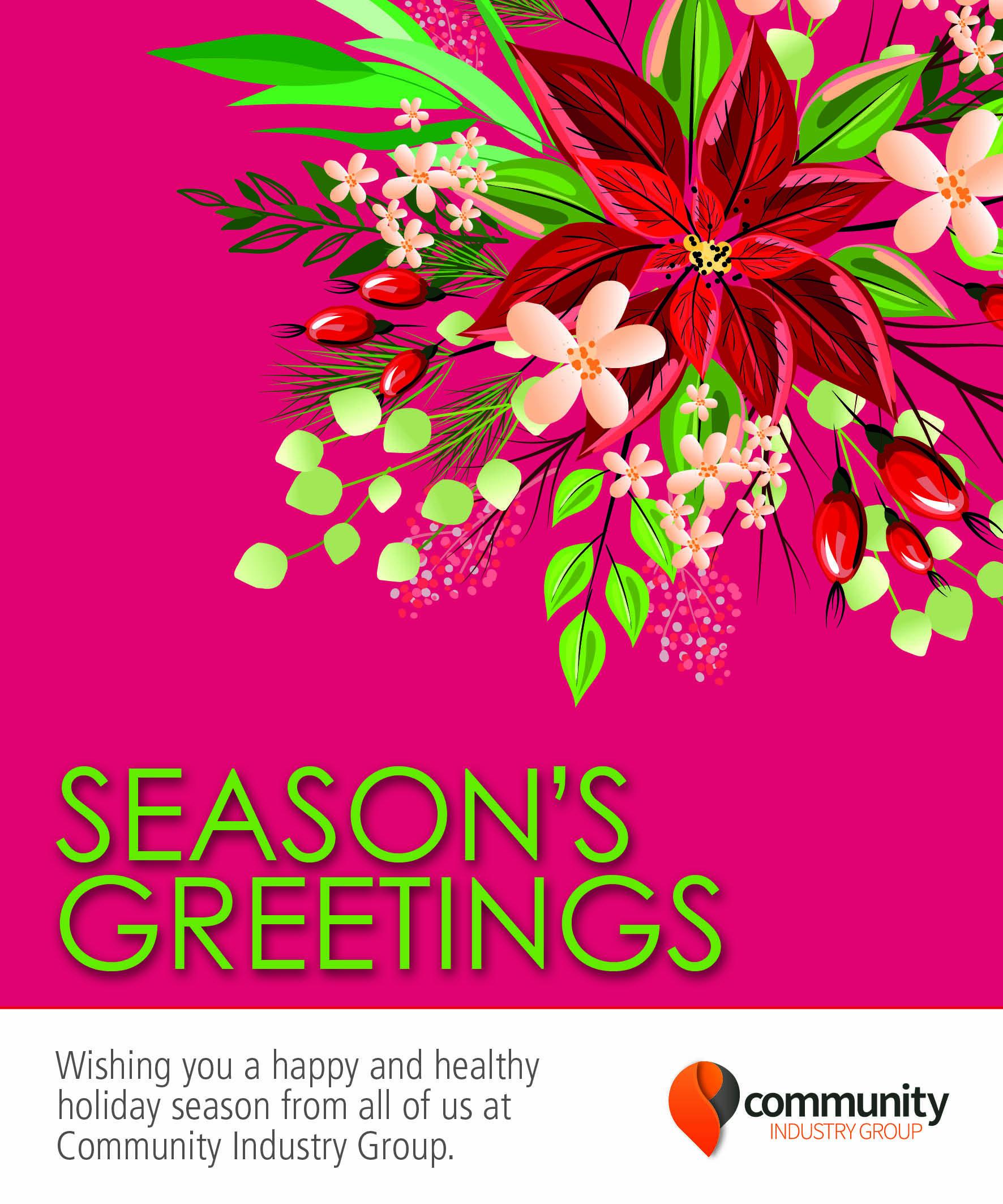 Season's Greetings - Community Industry Group
